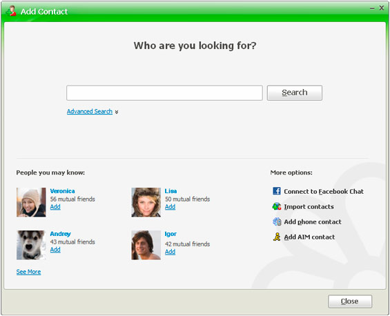 how to add someone on icq
