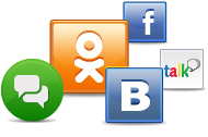 Подробнее о поддержке социальных сетей в ICQ
