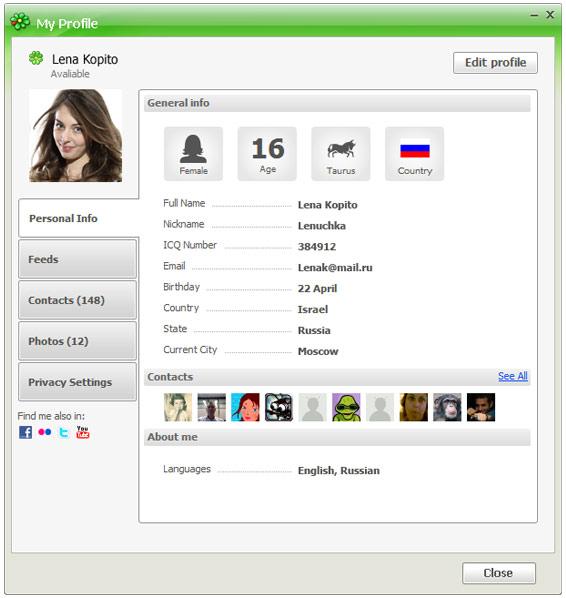 User profile #
